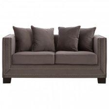 Fawn Modern Studded Sofa 2 Seat
