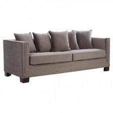 Fawn Modern Studded Sofa 3 Seat