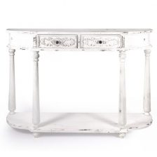 Rustic White Console Table