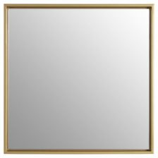 Small Gold Square Wall Mirror