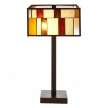 Square Stained Glass Eclectic Table Lamp