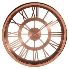 METALLISED ROMAN NUMERAL CUT OUT CLOCK
