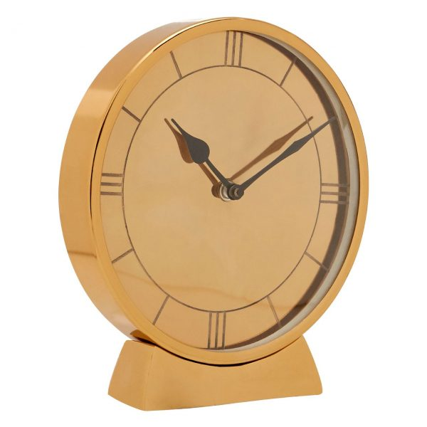 GOLD MINIMAL TABLE CLOCK