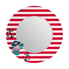 SMALL RED AND WHITE KIDS MIRROR