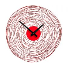 SWIRL ECLECTIC WIRE WALL CLOCK