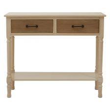 WHITE TWO DRAWER SHAKER CONSOLE