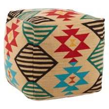 CUBE TRIBAL FOOTSTOOL
