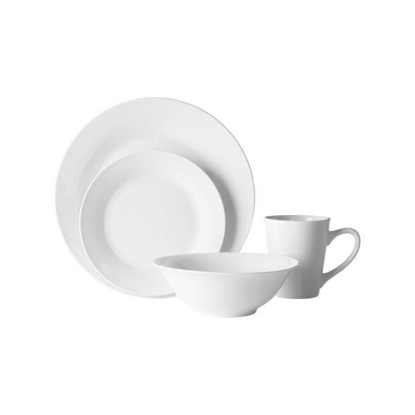 WHITE PORCELAIN MID-CENTURY DINNER SET