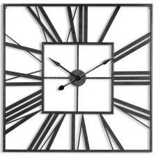 Boho Black Square Skeleton Clock