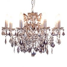 Chromed Crystal 8 Branch Shallow Chandelier
