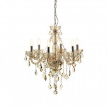 Cognac Crystal Chandelier