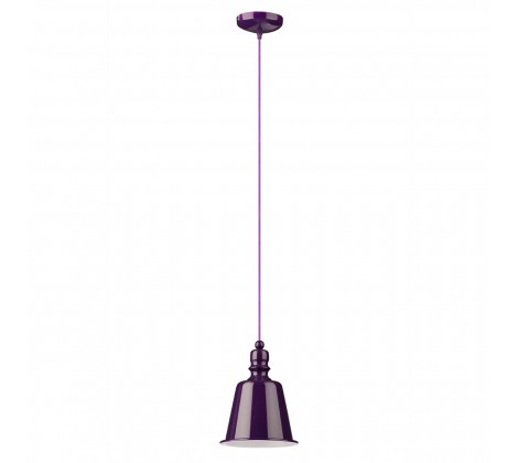 Contemporary Bell Pendant Light purple