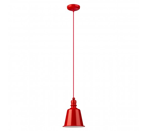 Contemporary Bell Pendant Light red
