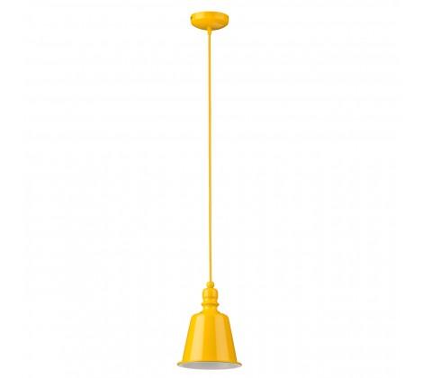 Contemporary Bell Pendant Light yellow