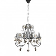 Contemporary Chrome 6 Arm Chandelier
