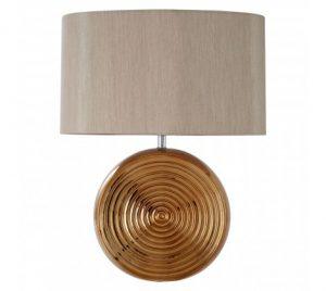 contemporary ripple table lamp bronze
