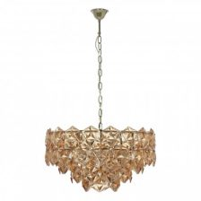 Modern Amber Glass Chandelier