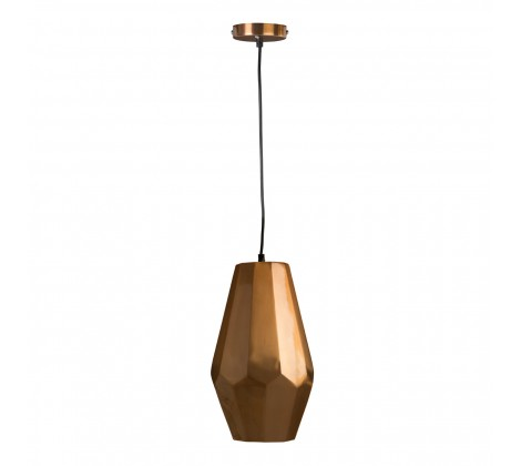 Modern Copper Finish Pendant