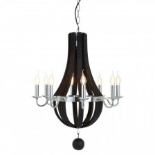 Modern Wooden Basket Chandelier