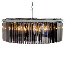 XL Chrome Smoke Round Chandelier