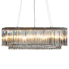 Chrome Prism Drop Rectangular Chandelier