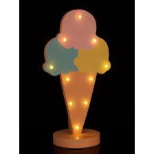ICE CREAM CONE LED KIDS TABLE LAMP