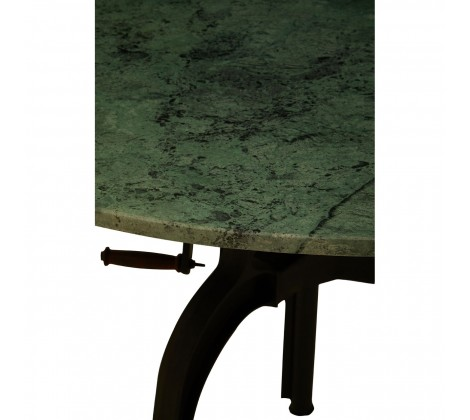 3 Leg Large Marble and Iron Table green 1
