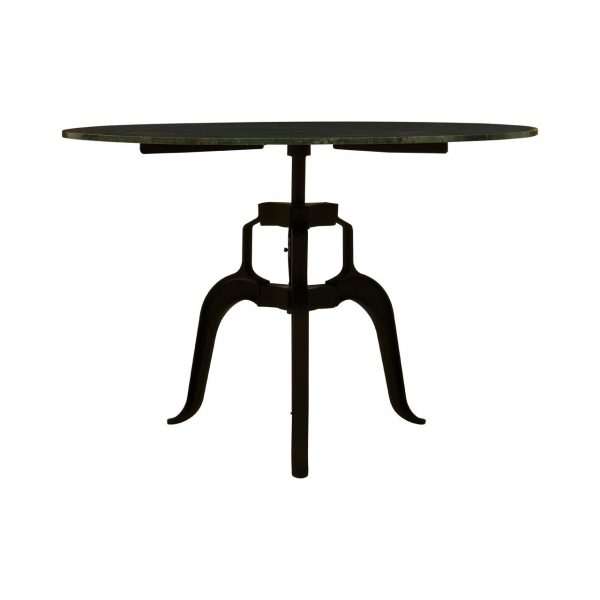 3 Leg Large Marble and Iron Table green
