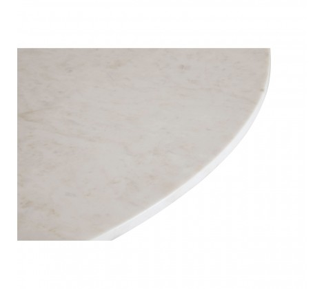 3 Leg Large Marble and Iron Table white 1