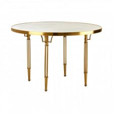 Art Deco Gold and White Dining Table