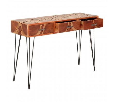 Boho Acacia Wood Console 4