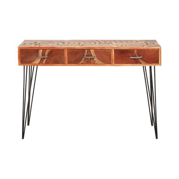 Boho Acacia Wood Console