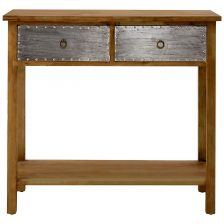 Distressed Contemporary 2 Drawer Console