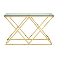 Gold Geo Console Table
