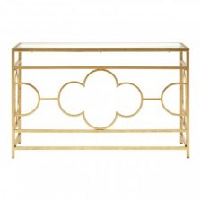 Gold Leaf Console Table