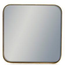 Gold Frame Square Mirror