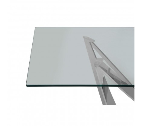 Modern Chrome and Glass Dining Table 2