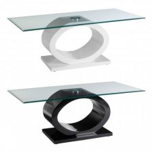 CONTEMPORARY ART GLASS TOP COFFEE TABLE