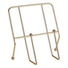 GOLD FINISH TUBULAR COOK BOOK STAND