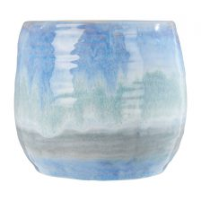 HIGH GLOSS SMALL BLUE PLANTER