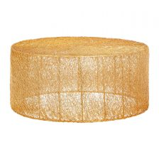 GOLD STRAND ECLECTIC CIRCULAR COFFEE TABLE