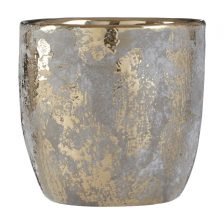 GREY AND SILVER FLOWER POT