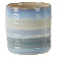 SMALL HIGH GLOSS BLUE PLANTER