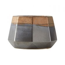 SMALL GEOMETRIC METALLIC PLANTER