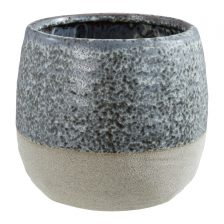 GREY SPECKLED PLANT POT