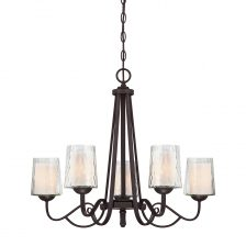 Contemporary Dark Cherry Chandelier