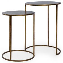 Contemporary Nest of Metal Side Tables