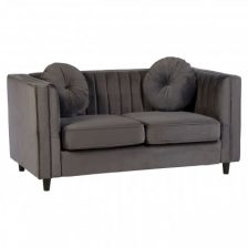 High Arm 2 Seat Velvet Sofa