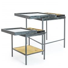 Industrial Set of 2 Nest Sidetables