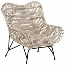 Monochrome Rattan Occasional Chair